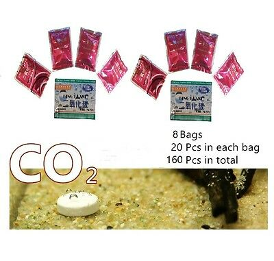 160pcs CO2 Plants Tablet Plant Diffuser Fish Tank For Carbon Dioxide Aquarium