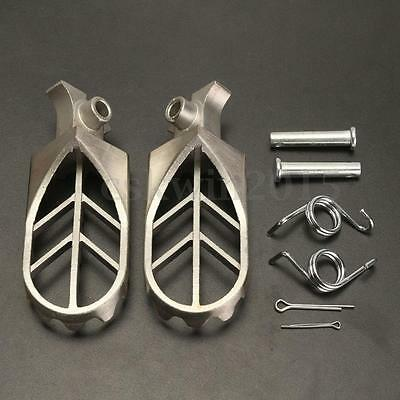 Stainless Steel Foot Peg Rest Footpegs For Yamaha YZ85 YZ125 YZ250 YZ450F WR250F