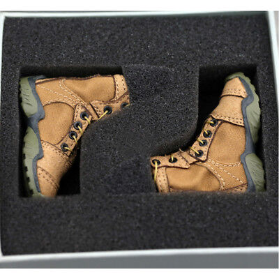 [wamami] 1:6 Scale Action Figure Toy Brown Combat Boots/Shoes