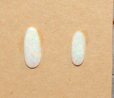 Natural Australian Opal 11.5x4.5mm, 14x6mm with 2.5mm dome Cabochon  (10616)