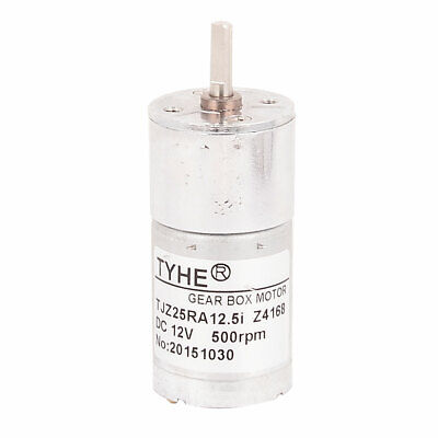 DC 12V 120RPM Low Speed 2 Terminal Solder Cylindrical Gearhead Motor