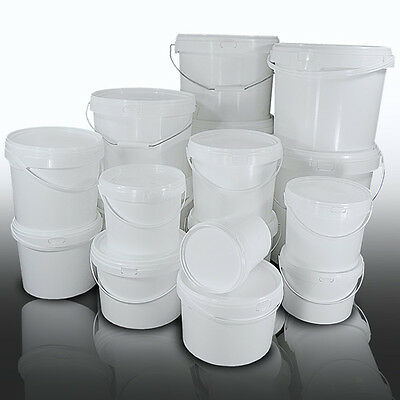 Plastic Buckets Tubs Containers with Tamper Evident Lids 1L 2L 3L 5L 8L 10L
