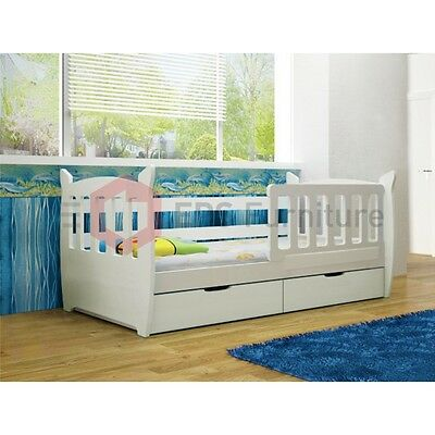 Childrens Bedroom Furniture Set Colour White Single Bed Wardrobe Chest Of Drawer