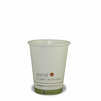 Planet + 100% Compostable PLA Laminated Hot Cup 8-Ounce 1000-Count Case