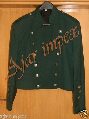 "DARK GREEN SCOTTISH MONT ROSE DOUBLET KILT JACKET- Sizes 30""- 60"" S R L"