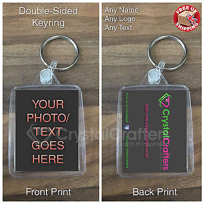 Custom Personalised Photo Keyring Gift | Business Promotional - Double-Sided