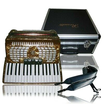 Rossetti Gold Piano Accordion 34 Keys 60 Bass Makes a Great Father's Gift!!