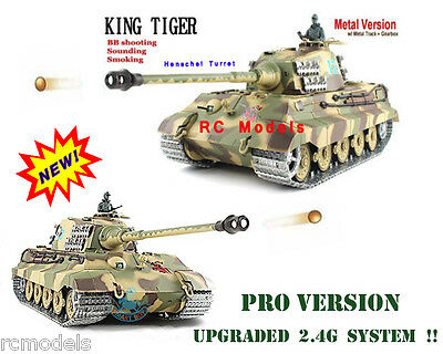 Radio remote Control Heng Long King Tiger HENSCHEL Barrel 2.4G --BB  Smoke Sound