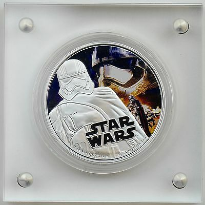 Niue 2016 $2 Star Wars: The Force Awakens Captain Phasma Pure Silver Color Proof