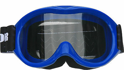 Kids/Youth Goggles - Motocross, dirt bike, BLUE, quad, ATV, MX, non slip helmet