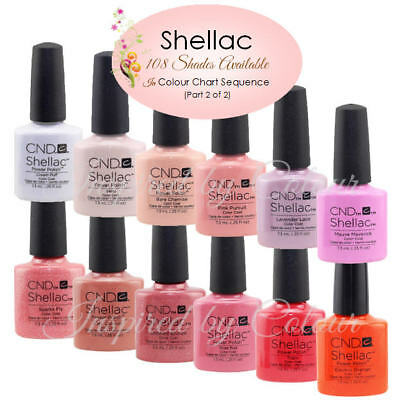 CND SHELLAC UV COLOR COAT~Shades shown in Colour Chart sequence~Part 1(of 2)
