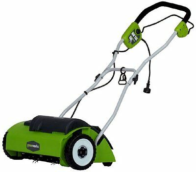 "GreenWorks 27022 10 Amp 14"" Corded Electric Soil Dethatcher - NEW"