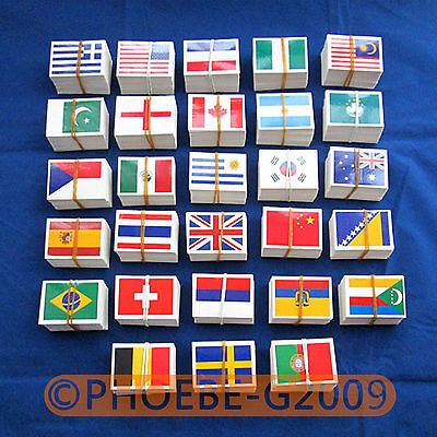 2pcs Hot 24 Nation Flag Face Stickers Mini Decals for Euro Football Championship