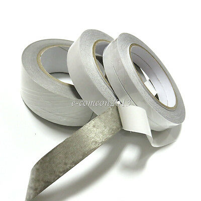 New 10mm Silver Double Sided Conductive Cloth Fabric Tape LCD Phone EMI Shield