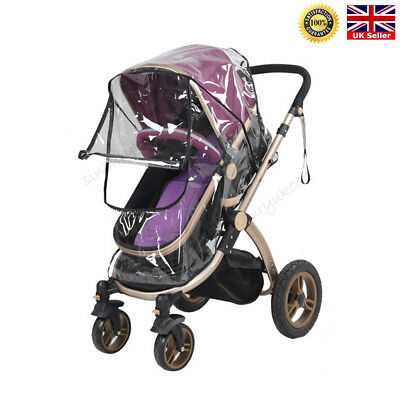 Universal Pushchair Buggy Rain Cover Baby Transparent Stroller Pram Wind Shield