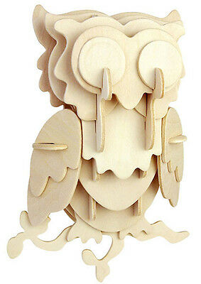 Owl Head - Woodcraft Construction Kit - Wooden Model Kit - Quay- Ages 7+ New FSC