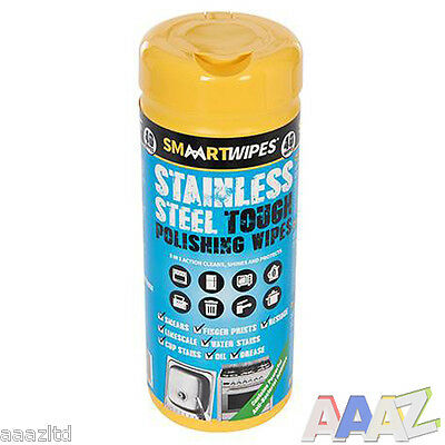 Smaart Wipes Stainless Steel Chrome Tough Polishing Cleaning Wipes Cloths 40pk