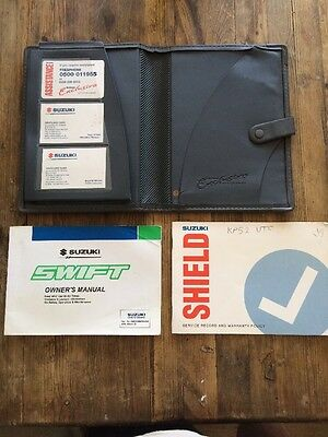 88-02 Suzuki Swift Owners Handbook Manual Pack With Service Book