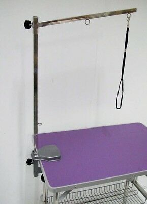 "BLUE 38"" Emperor Fold Flat Dog Grooming Table Grooming + Arm & Noose Restraint"