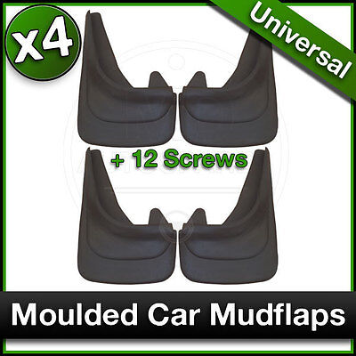 MOULDED Car MUDFLAPS Contour Mud Flaps Universal FORD FIESTA FOCUS KA Fitted x4