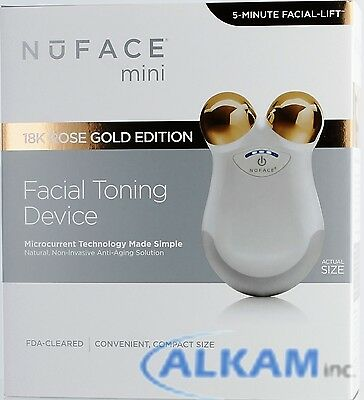 New in box NuFACE Limited Edition Mini 18K Rose Gold,1-Year Money Back Guarantee