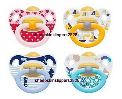 LOWEST PRICE NUK Happy Kids Baby Dummy Pacifier Teat Nipple Latex Soother 2 pack