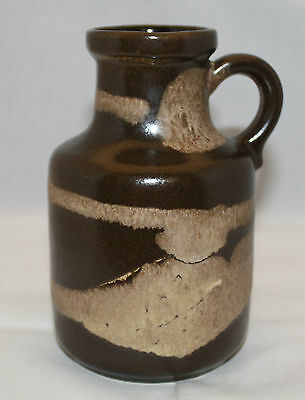"Vintage Scheurich West Germany Art Pottery Brown Vase Jug 16cm 6.25"" Tall 414-16"