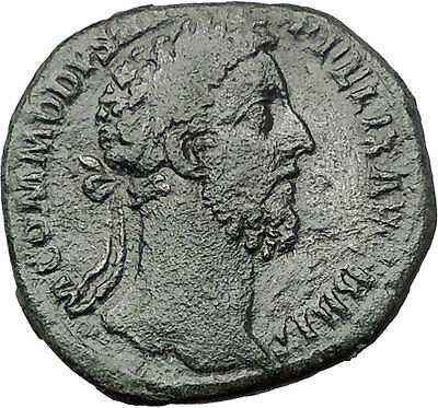 COMMODUS son of Marcus Aurelius Sestertius Big Rare Ancient Roman Coin i55475