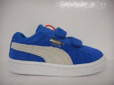 Puma Suede 2 Strap Kids Toddlers Running Shoe Blue 356274-02 Select Size