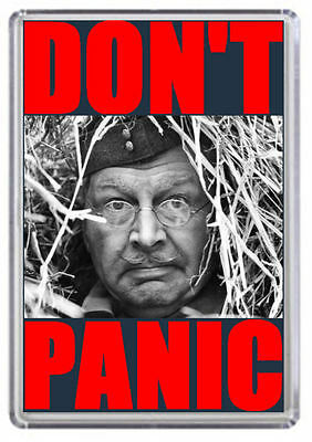 Dad's Army Corporal Jones Don't Panic Fridge Magnet