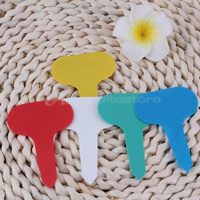 100pcs Reusable Plastic Nursery T Shape Label Garden Seeds Flower Plant Maker