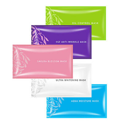 BUY 5 GET 1 FREE [SIMPLY] Intensive Moisturizing Anti-Wrinkle Facial Mask 1pc