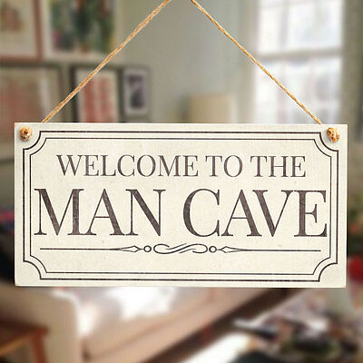 WELCOME TO THE MAN CAVE Sign Gift For Dad - Man Cave Door Fathers Day Sign