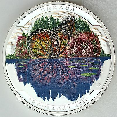 Canada 2016 $20 Landscape Illusion: Butterfly 1 oz Pure Silver Color Proof Coin