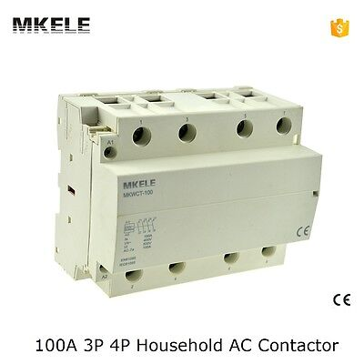 MKWCT-100 Household AC Contactor 100A 4P 4NO Din Rail Electrical Type