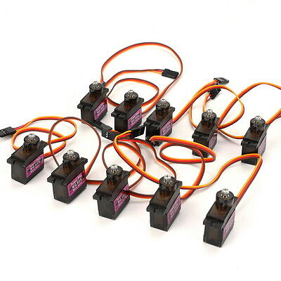 10 Pcs MG90S Micro Metal Gear 9g Servo for RC Airplane Helicopter Boat Car