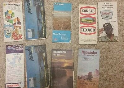 Lot of Vintage Road Maps Conoco Skelly Phillips 66 Mobil Gas Minnesota, NE IA #6