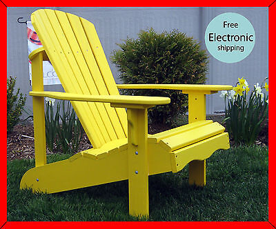 """Old Forge"" Outdoor Adirondack Chair Plans Patterns & Instructions"