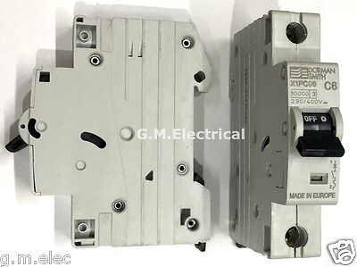 Dorman Smith 6 Amp Type C Single Pole Mcb Circuit Breaker 6A / C6 X1Pc06
