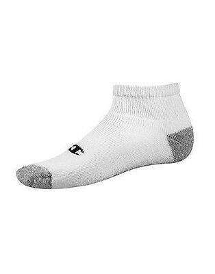 6714859157 12-Pack Champion Double Dry Performance Men s Quarter Socks White or Black 6 -12