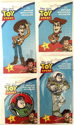 Official Disney Toy Story Applique Motif Patches Iron On - 7.5cm x 5cm - Pixar