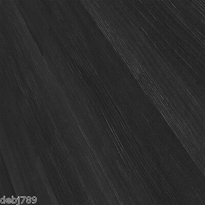 Midnight Oak Vinyl Flooring Lino Lifestyle Wide Black Wood Plank Look 3Mm Thick
