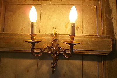 French antique/vintage ornate bronze wall light sconce gorgeous detailed