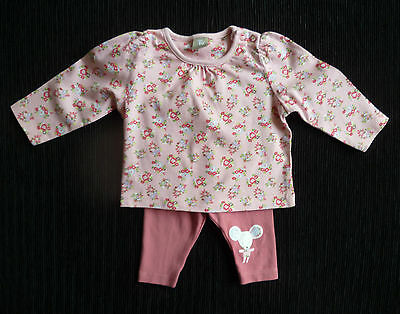 Baby clothes GIRL newborn 0-1m 9lbs/4.1kg TU outfit pink floral top/leggings