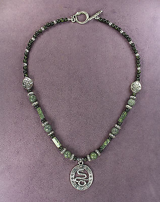 SERPENTINE STONE NECKLACE Snakeskin Serpent Snake Totem Tribal Pagan Sign Symbol