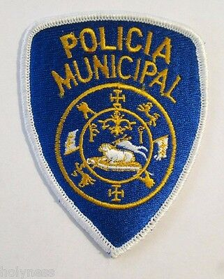 Vintage Embroidered Puerto Rico Police Patch / Policia Municipal Pr / Old Style