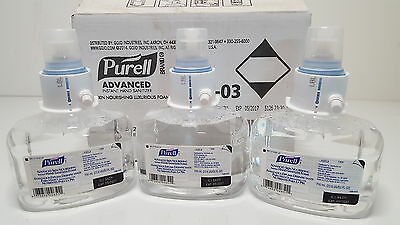 New Purell Advanced Skin Nourishing Instant Hand Sanitizer Foam 3 PACK 1306-03