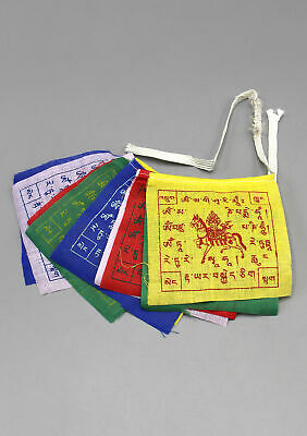 Windhorse Tibetan Prayer Flags Set of 5 Roll 10 Flags Extra Mini Gift Pack