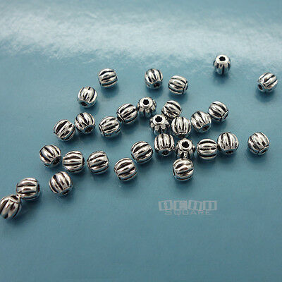 30 PC Sterling Silver Small Pumpkin Round Bead Spacer 2.8mm #33095