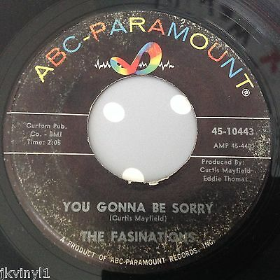 Fasinations-You Gonna Be Sorry-Abc Paramount 10443. Vg